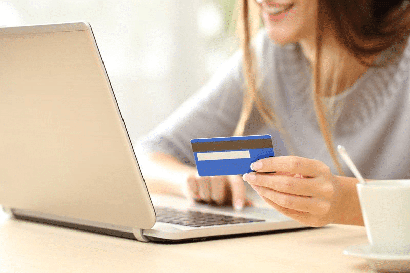 woman booking online
